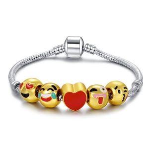 18K Gold Emoji Charm Bracelet